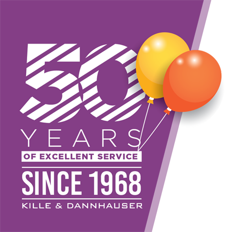 Kille n D50 Years Logo
